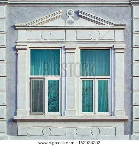 Image of Closed Windows of an Old House