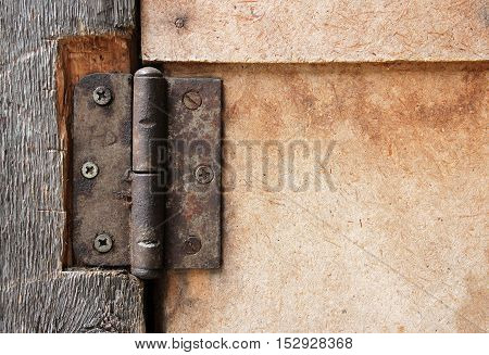 dirty old rusty door hinge a a a
