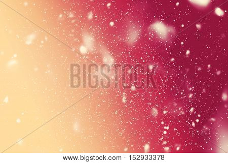 Snow Falling Night Sky Drawing Blue Background