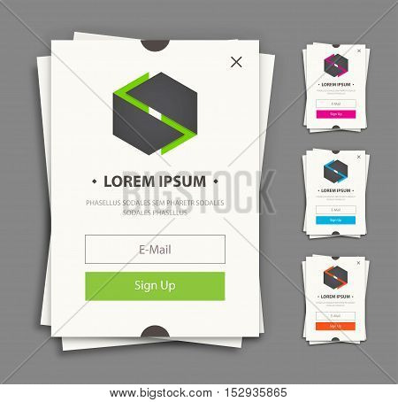 Subscribe web forms. Vector flat style illulstration.