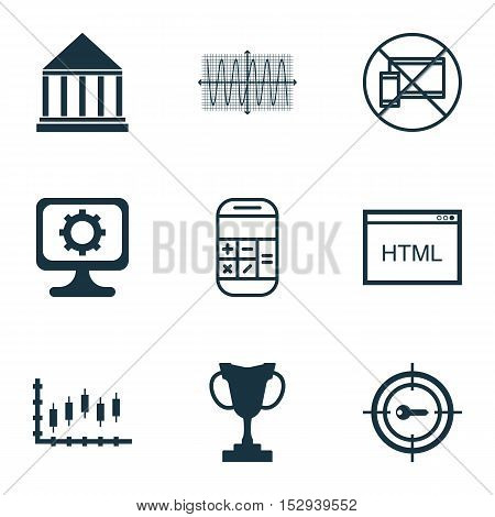 Set Of 9 Universal Editable Icons For Airport, Management And School Topics. Includes Icons Such As