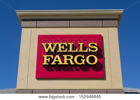 JACKSONVILLE, FL-OCTOBER 22, 2016: A Wells Fargo Bank branch sign in Jacksonville, Florida. Wells Fargo & Company was founded in 1929 and currently has 9,000 bank branches in 39 states.