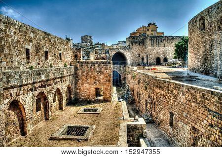 Panorama of Citadel of Raymond de Saint-Gilles in Tripoli Lebanon