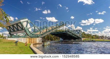 The Great Bridge Virginia Bridge on the Intercoastal Waterway