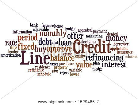 Credit Line, Word Cloud Concept 5