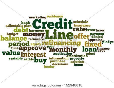 Credit Line, Word Cloud Concept 6