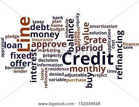 Credit Line, Word Cloud Concept 8
