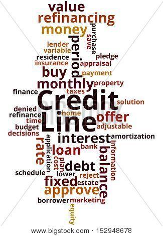 Credit Line, Word Cloud Concept 9