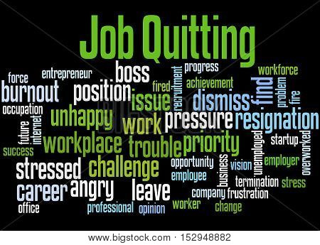 Job Quitting, Word Cloud Concept 4