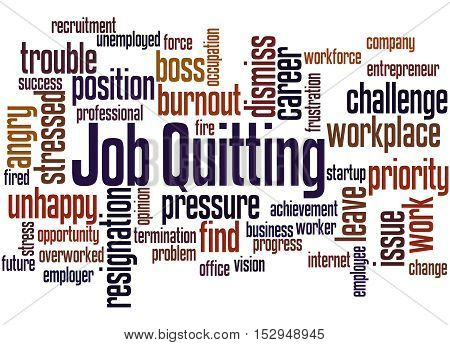 Job Quitting, Word Cloud Concept 7