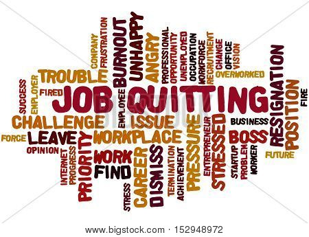 Job Quitting, Word Cloud Concept 9