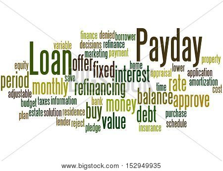 Payday Loan, Word Cloud Concept 3