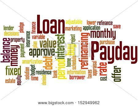Payday Loan, Word Cloud Concept 5