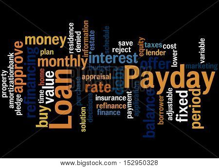 Payday Loan, Word Cloud Concept 7