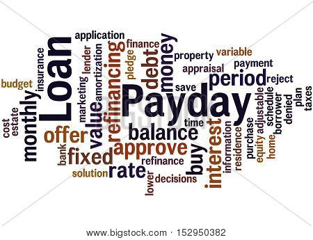 Payday Loan, Word Cloud Concept 8