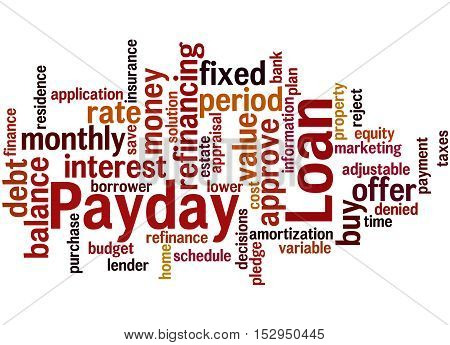 Payday Loan, Word Cloud Concept 9