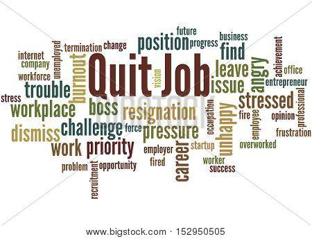 Quit Job, Word Cloud Concept