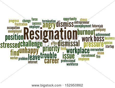 Resignation, Word Cloud Concept