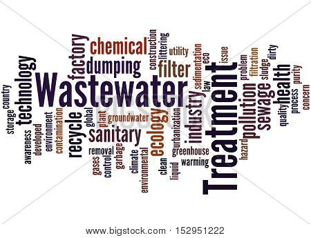 Wastewater Treatment, Word Cloud Concept 2