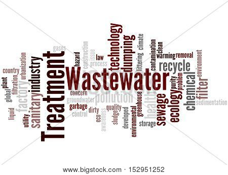 Wastewater Treatment, Word Cloud Concept 4