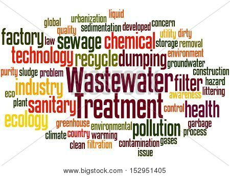 Wastewater Treatment, Word Cloud Concept 8
