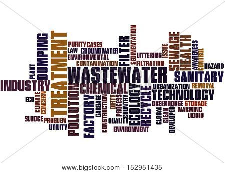 Wastewater Treatment, Word Cloud Concept 9