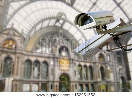 Cctv Camera Surveillance Train Station