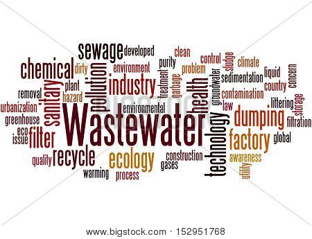 Wastewater, Word Cloud Concept 9