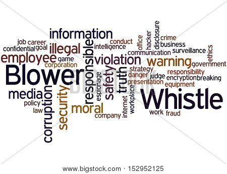 Whistle Blower, Word Cloud Concept 3