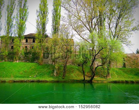Beautiful Republic of Srpska Vrbas green river