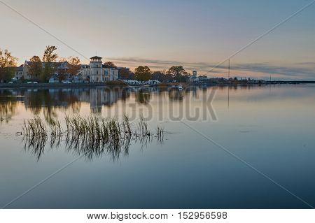 Afterglow. Beautiful View Of Haapsalu City. Estonia