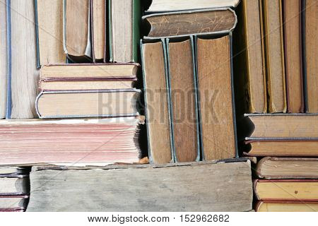 stack of old books, copy-space for your text.