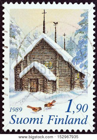 FINLAND - CIRCA 1989: A stamp printed in Finland from the