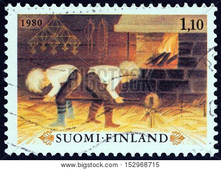 FINLAND - CIRCA 1980: A stamp printed in Finland from the