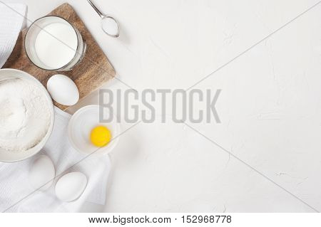 Background With Utensils And Ingredients