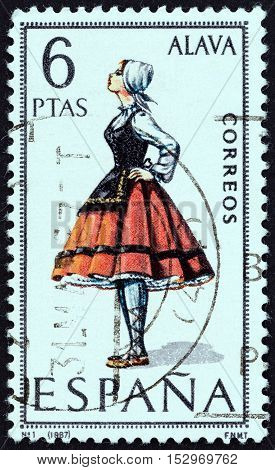 SPAIN - CIRCA 1967: A stamp printed in Spain from the