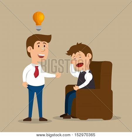men treat ment spychology idea design vector illustration eps 10