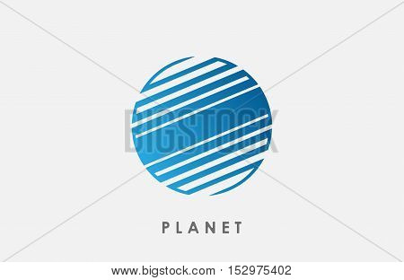 Planet logo deign. Line planet. Creative cosmic logo