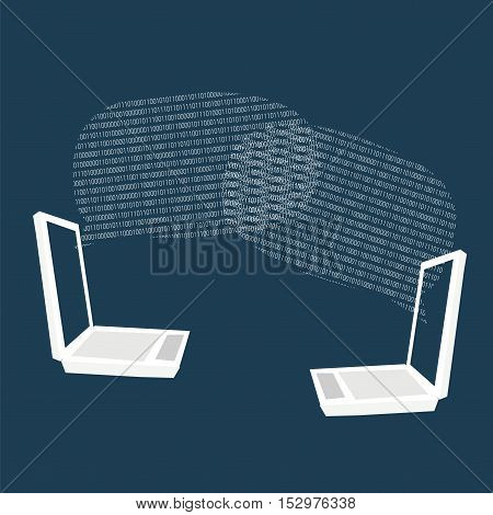 Laptop Communication With Binary Clouds