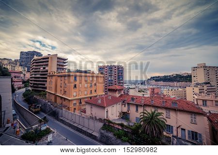 Principality of Monaco: top view of the city
