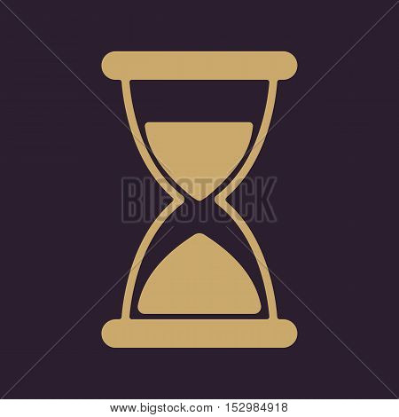 The hourglass icon. Chronometer and timer, clock symbol. Flat Vector illustration