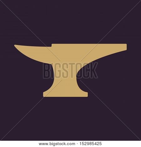 The anvil icon. Smith and forge, blacksmith symbol. Flat Vector illustration poster