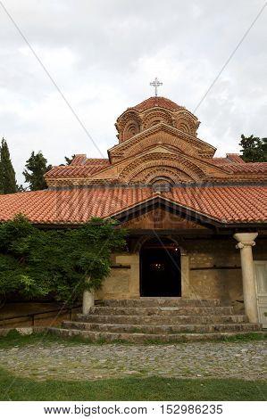 Church of the monastery of St. Naum in Macedonia at Lake Ohrid