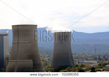 Smocking Smokestacks From the Brown Coal Power Station in France