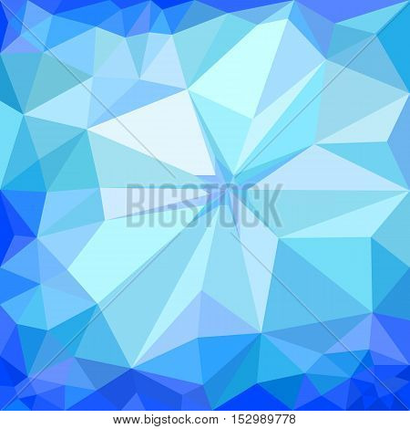 Winter blue ice polygonal triangular mosaic background, vector illustration
