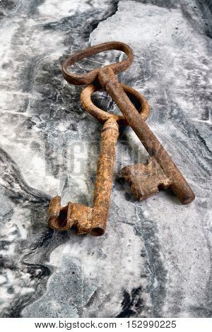 Old antique skeleton keys with room for your type.