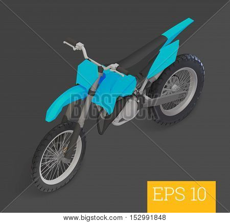Motocross Isometric Vector Illustration