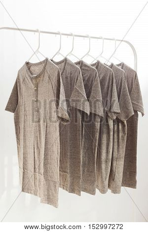 Grey Henley Shirt Casual Style