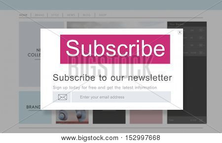 Subscribe Member Register Social Advertising Concept poster