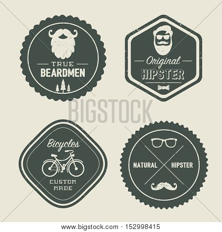 Vintage Retro Styled Hipster Logos